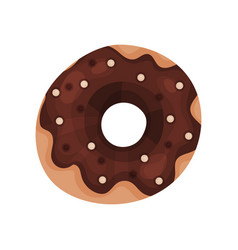 chocolate donut cartoon vector image