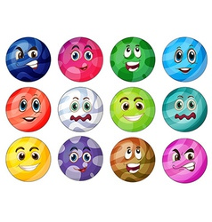 Colourful balls vector