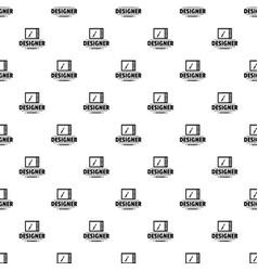 designer shop pattern seamless vector image