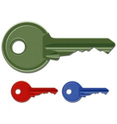 door keys vector image