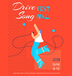 drive fest song poster flat template date place vector image