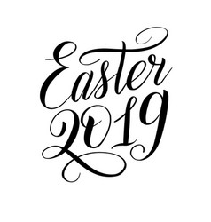 Easter 2019 design element for greeting cards vector