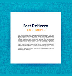 fast delivery paper template vector image