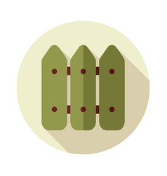 Fence flat icon vector