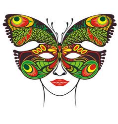 festive butterfly mask vector image