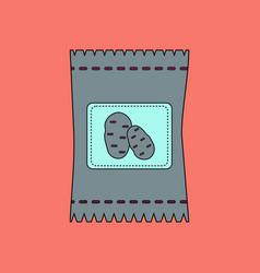 flat icon design collection potato seeds vector image