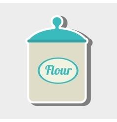 Flour pot design vector