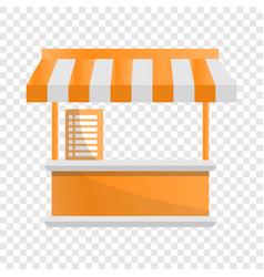 food tent kiosk icon cartoon style vector image