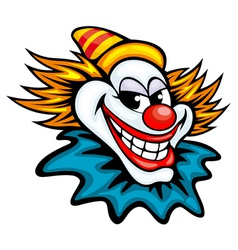 Fun circus clown in cartoon style vector image