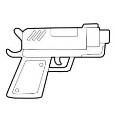 Gun icon outline style vector