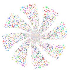 Hypnosis fireworks swirl flower vector