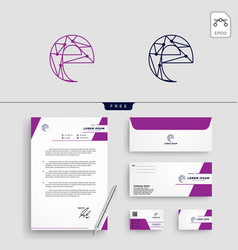 initial e abstract logo template vector image