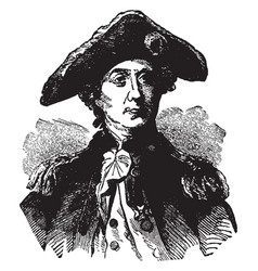 john paul jones vintage vector image