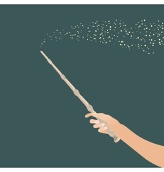 Magic wandin hand for witches and wizards vintage vector