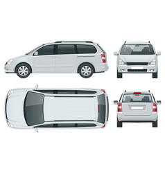 minivan car template on white background vector image