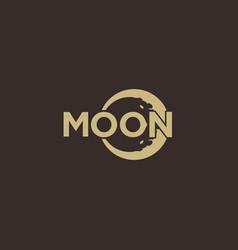 Moon word mark logo design inspiration vector