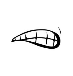 Mouth and lips cartoon vector