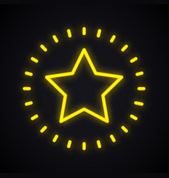 neon star sign glowing star shape symbol vector image