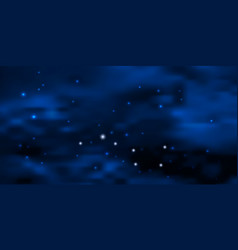 night blue starry sky with big dipper star vector image
