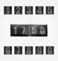 Numbers set typography education element vector