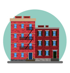 old american city abstract buildings new york vector image