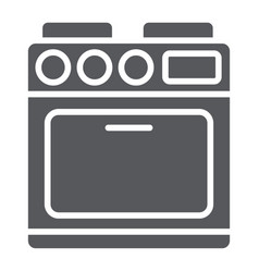 oven glyph icon appliance and cooking cooker vector image