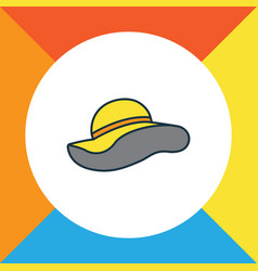 panama colorful outline symbol premium quality vector image