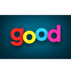 Paper good sign vector