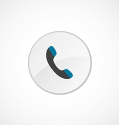 Phone icon 2 colored vector