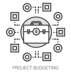Project budgeting line infographic vector image