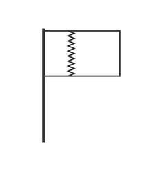 Qatar flag icon in black outline flat design vector