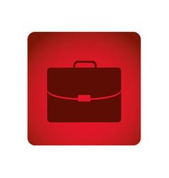 Red square frame briefcase executive icon vector
