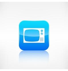 Retro tv icon Application button vector