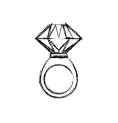 Ring gold jewelry gemstone vector