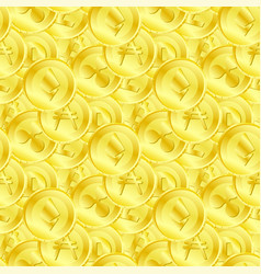 seamless pattern of different cryptocurrency vector image