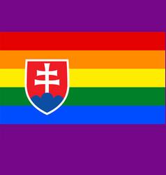 Slovak gay flag or lgbt vector
