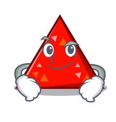 Smirking triangel character cartoon style vector