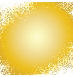 snowflakes gold background texture vector image
