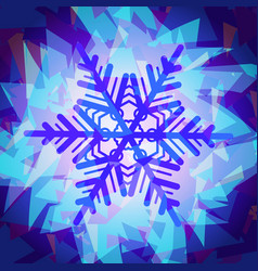 Snowflakes texture abstract vector