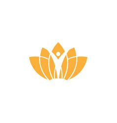spa aesthetic logo design template vector image
