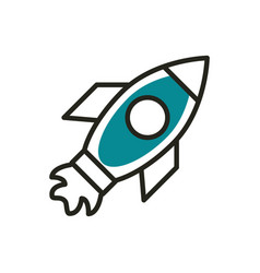 startup web development icon line and fill vector image