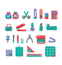 stationary set 3 color vector image