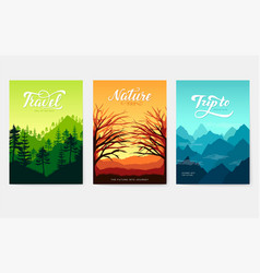 sunrise over beauty nature vector image
