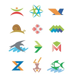 Symbols icons signs vector image