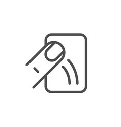 touch device line outline icon vector image