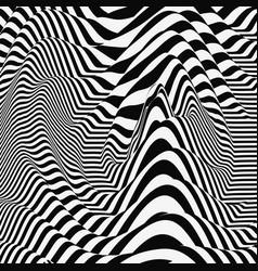 waveform background distortion optical 3d vector image