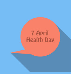 world health day concept thinking circle with 7 vector image