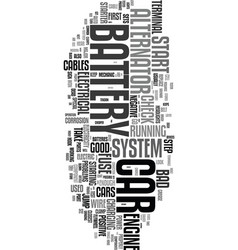 your cars electrical system text word cloud vector image