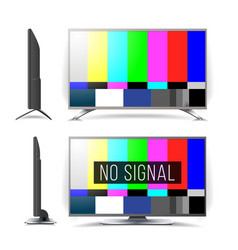 no signal tv test pattern lcd monitor vector image