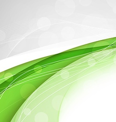 Abstract green waves - data stream concept vector image vector image